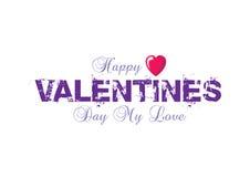 Valentijnskaarten logotype met weg Royalty-vrije Stock Foto's