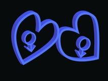 Valentijnskaarten voor mensen Stock Fotografie