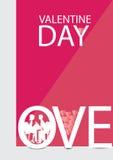 Valentijnskaartenaffiche Royalty-vrije Stock Foto's