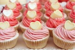 Valentijnskaartencakes Stock Afbeeldingen