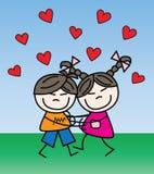 Valentijnskaartendag of andere liefdeviering royalty-vrije illustratie
