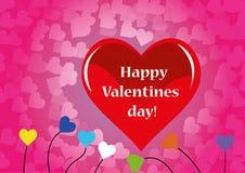 Valentijnskaartendag, Hart, Romantische liefde Stock Foto