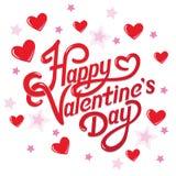 Valentijnskaartendag het Van letters voorzien Royalty-vrije Stock Foto