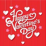 Valentijnskaartendag het Van letters voorzien Royalty-vrije Stock Afbeeldingen