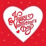 Valentijnskaartendag het Van letters voorzien Royalty-vrije Stock Fotografie