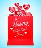 Valentijnskaartendag het Winkelen Concept stock illustratie