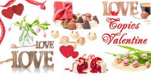 Valentijnskaartendag, liefde, bloemen, gift stock foto