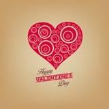 Valentijnskaartendag met hart Royalty-vrije Stock Foto's