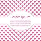 Valentijnskaartendag met ovaal tekstkader en vele harten Stock Foto