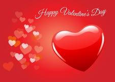 Valentijnskaartendag, valentijnskaartachtergrond, rode hartvector Stock Foto's