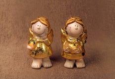 Valentijnskaartenengelen Royalty-vrije Stock Foto's