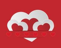 Valentijnskaartenharten Stock Afbeeldingen