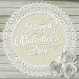 Valentijnskaartenkaart op beige achtergrond Eps 10 Royalty-vrije Stock Afbeelding