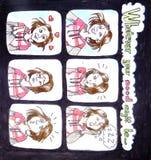Valentijnskaartenkaart - wat er ook uw stemming zou kunnen zijn Stock Foto's