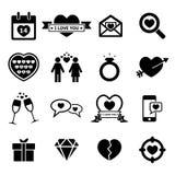 Valentijnskaartenpictogram royalty-vrije illustratie