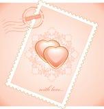 Valentijnskaartenpostzegel Royalty-vrije Stock Foto's