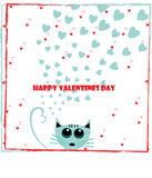 Valentijnskaartenwensen Stock Foto's