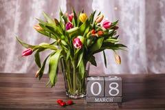Valentim bonito das tulipas da mola Imagem de Stock Royalty Free