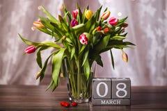 Valentim bonito das tulipas da mola Imagens de Stock