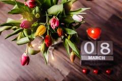 Valentim bonito das tulipas da mola Fotos de Stock Royalty Free