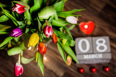 Valentim bonito das tulipas da mola Imagem de Stock