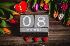 Valentim bonito das tulipas da mola Foto de Stock