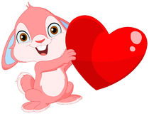 Valentim bonito do coelho Fotografia de Stock Royalty Free