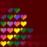Valentim colorido Fotografia de Stock