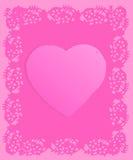 Valentim cor-de-rosa de Grunge do Doily Fotografia de Stock Royalty Free