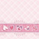 Valentim cor-de-rosa fundo, vetor ilustração royalty free