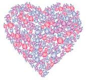 Valentim coração, vetor Imagem de Stock