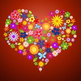 Valentim da flor da mola ilustração stock