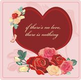 Valentim das rosas do coração Fotografia de Stock