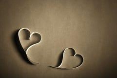 Valentim de papel bonito do St do fundo dos corações Imagens de Stock