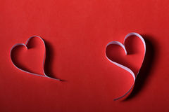 Valentim de papel do St do fundo dos corações Fotos de Stock
