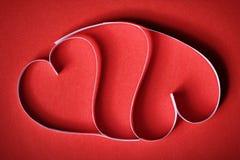 Valentim de papel do St do fundo dos corações Fotografia de Stock