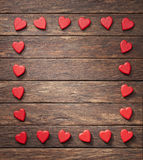 Valentim do fundo do quadro do coração foto de stock royalty free