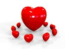 Valentim dos corações Fotografia de Stock Royalty Free