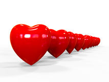 Valentim dos corações Imagens de Stock Royalty Free