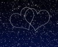 Valentim dos corações do céu ilustração stock