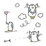 Valentim dos pinguins Imagens de Stock Royalty Free