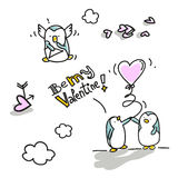 Valentim dos pinguins Imagem de Stock