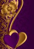 Valentim dourado. Fotografia de Stock Royalty Free