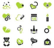 Valentim e ícones do amor Fotografia de Stock