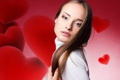 Valentim fêmea Imagem de Stock Royalty Free