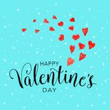Valentim felizes com corações Foto de Stock