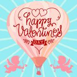 Valentim felizes com corações Imagem de Stock Royalty Free