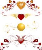 Valentim Florals Imagens de Stock Royalty Free