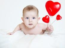 Valentim pequeno bonito do bebê fotografia de stock royalty free