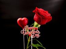 Valentim Rosa Fotografia de Stock Royalty Free